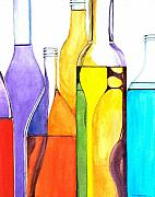 Bottle Prints - Bottled Rainbow 1 Print by Jun Jamosmos
