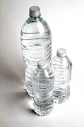 Water Bottle Posters - Bottled Water Poster by Photo Researchers