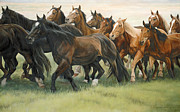 Impressionistic Horse Paintings - Bottleneck by JQ Licensing