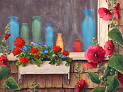 Box Originals - Bottles and Flowers by Elaine Farmer