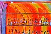 Malmo Digital Art Acrylic Prints - Bottles Acrylic Print by Barry R Jones Jr