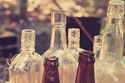 Spirits Photos - Bottles behind the old Saloon by Toni Hopper