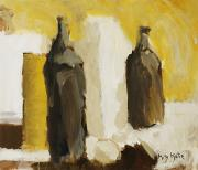 Art Medium Prints - Bottles in Still Life Print by Katie OBrien - Printscapes