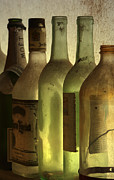 Kelly Digital Art Posters - Bottles Still Poster by Kelly Rader