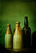Vinegar Prints - Bottles Print by Zeus  Montalvo