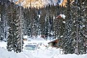 Bottom Of Ski Slope Print by Lisa  Spencer