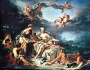 18th Century Paintings - Boucher: Abduction/europa by Granger