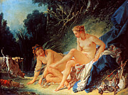 Diana Paintings - Boucher: Diana Bathing by Granger