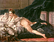 Boucher Framed Prints - Boucher: Lodalisque Framed Print by Granger