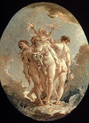 Francois Boucher Posters - Boucher: Three Graces, 18 C Poster by Granger