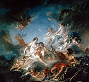 Boucher Framed Prints - Boucher: Vulcan Framed Print by Granger