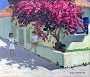 Flower Child Paintings - Bouganvillaea by Andrew Macara