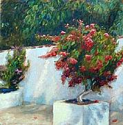Impressionistic Landscape Painting Originals - Bouganvillia by Brenda Williams
