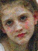 Photomosaic Prints - Bouguereau - Avant le bain Print by Gilberto Viciedo