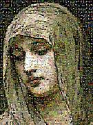 Photomosaic Prints - Bouguereau - Modestie Print by Gilberto Viciedo