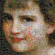 Photomosaic Prints - Bouguereau - Une vocation Print by Gilberto Viciedo