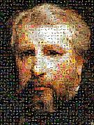 Photomosaic Prints - Bouguereau self portrait Print by Gilberto Viciedo