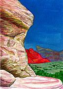 Red Rock Canyon Paintings - Boulder by Bonnie Kelso