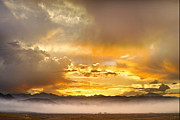 Flagstaff Posters - Boulder Colorado Flagstaff Fire Sunset View Poster by James Bo Insogna