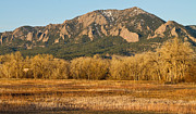 Colorado Front Range Photos - Boulder Colorado Flatiron View From Jay Rd by James Bo Insogna