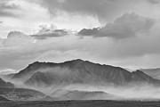 Flagstaff Framed Prints - Boulder Colorado Flatirons and The Flagstaff Fire BW Framed Print by James Bo Insogna