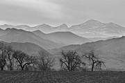 Boulder County Photos - Boulder County Layers BW by James Bo Insogna