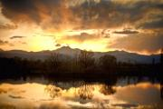 Lightning Fine Art Posters Posters - Boulder County Sunset Reflection Poster by James Bo Insogna