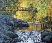 Rushing Water Paintings - Boulder Creek by Tom Roderick