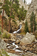Tree Art Print Framed Prints - Boulder Falls Long View  Framed Print by James Bo Insogna