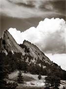 Boulder Flatirons 1 Print by Marilyn Hunt