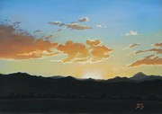 Foothills Pastels - Boulder Foothills Sunset by Xenia Sease