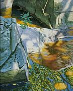Diebenkorn Paintings - .Boulder Reflection by James Burpee