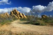 Boulders At Apple Valley Print by James Eddy