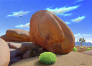 Desert Digital Art Originals - Boulders by Snake Jagger