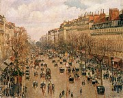 Montmartre Paintings - Boulevard Montmartre by Pg Reproductions
