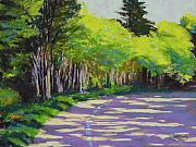 Streetscape Pastels - Boulevard Shadows by Mary McInnis