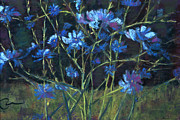 Foothills Pastels - Bouncing Chicory by Cheryl Whitehall