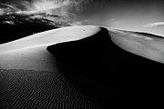 Coral Pink Sand Dunes Posters - Boundless Dune - black and white Poster by Hideaki Sakurai