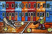 Bounjiorno Italia Tennis Print by Monica Engeler
