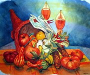 Vegetables Paintings - Bounty by Gerald Carpenter