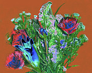 Transformed Photo Prints - Bouquet - Digital Pastel Painting Print by Merton Allen