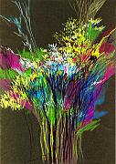 Flowers Mixed Media Originals - Bouquet by Anil Nene