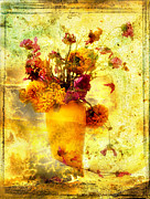 Indoor Digital Art Prints - Bouquet Print by Bernard Jaubert