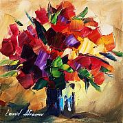 Roses Framed Prints - Bouquet For Sweeheart Framed Print by Leonid Afremov