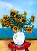 Sunflowers Paintings - Bouquet of Beauty by Tom Roderick