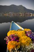 Mountain Photos - Bouquet Of Flowers In Bow Of Boat Dal by David DuChemin