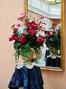 Bouquet Art - Bouquet of Peonies With Reflection by Susan Savad