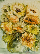 Cut Flowers Paintings - Bouquet of Sunflowers by Joanne Smoley