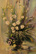 Gladiolus Paintings - Bouquet by Tigran Ghulyan