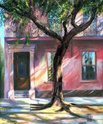 New Orleans Scenes Paintings - Bourbon House by Karla Gilson Hunt